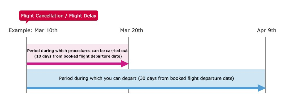 Timeframe for procedures related to delayed or cancelled flights